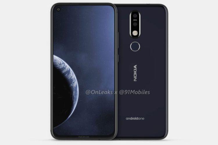Ilustrasi Nokia 8.1 Plus