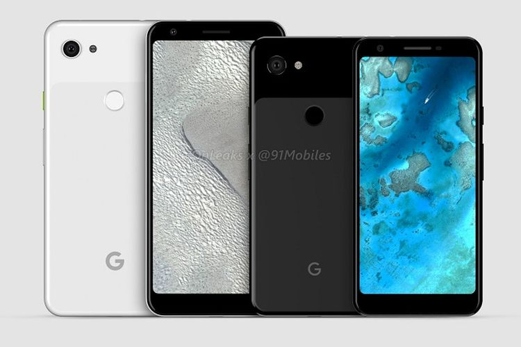 Render Google Pixel 3 Lite dan Google PIxel 3 XL Lite