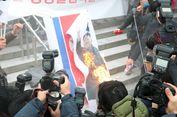 Demonstran Korsel Bakar Foto Kim Jong Un, Ada Apa?