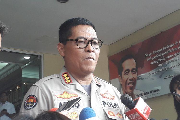 Kabid Humas Polda Metro Jaya Kombes Argo Yuwono memberi keterangan pers di Mapolda Metro Jaya, Selasa (21/5/2019).