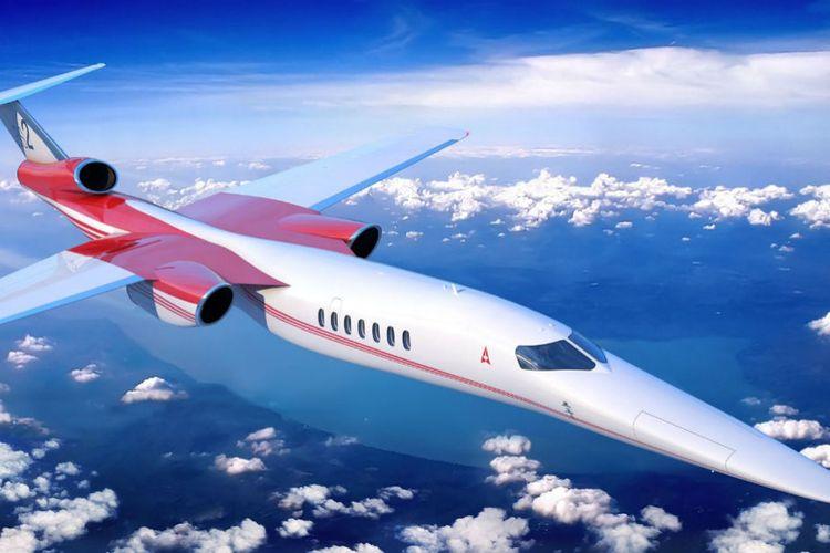 Konsep pesawat jet pribadi yang dikembangkan Aerion.