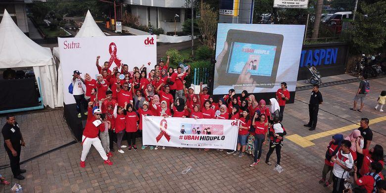 Kampanye #UbahHidupLo di ajang Car Free Day Sudirman (25/11).
