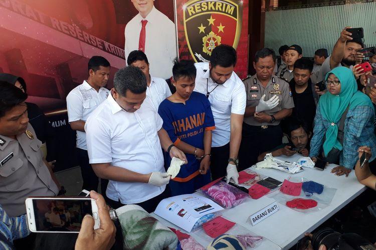 NH diamankan di Mapolda Jatim, Rabu (3/7/2019)
