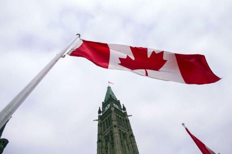 Ilustrasi Bendera Kanada.