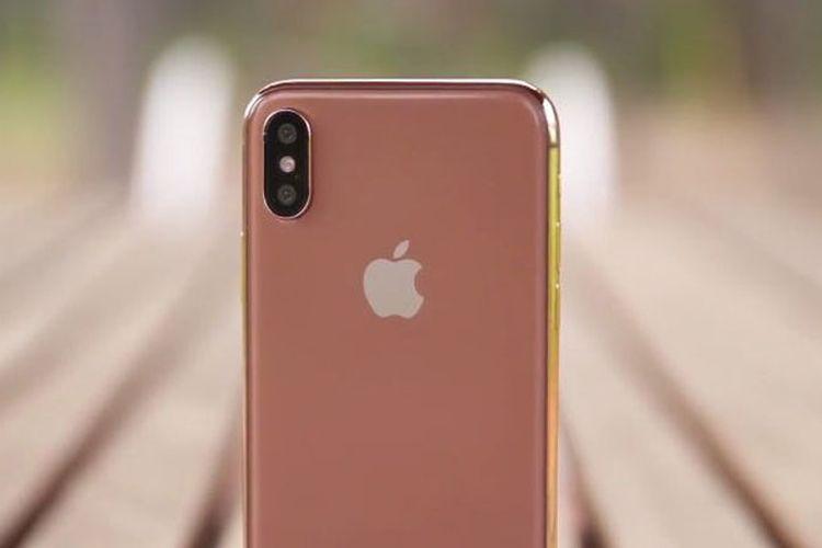 Rumor iPhone X berwarna emas muncul di Twitter. Akun @VenyaGaskin1 yang pertama kali memerlihatkannya.