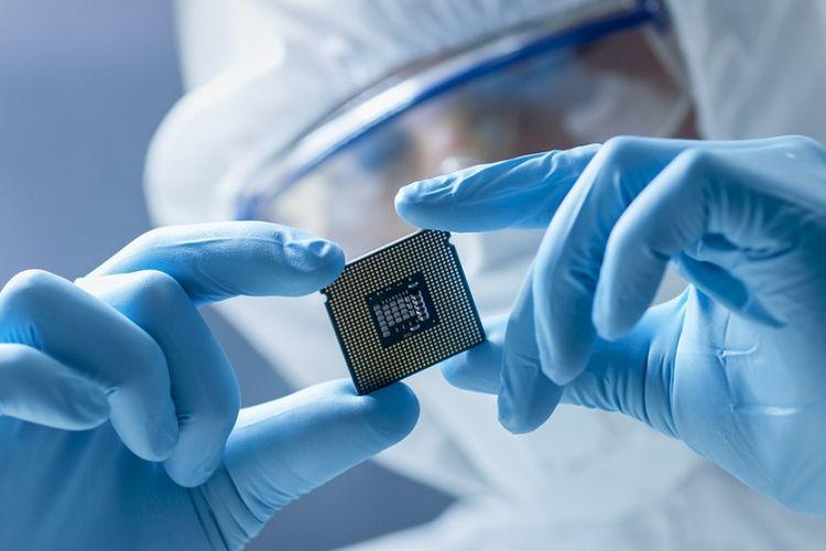 Ilustrasi chip mikro.