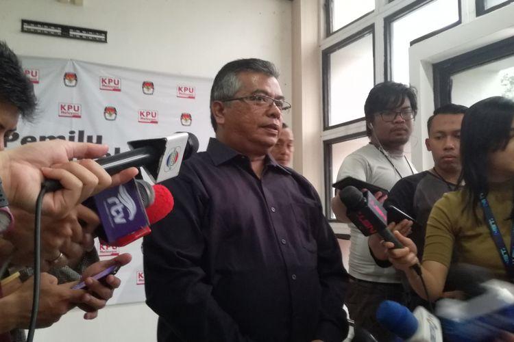 Ketua Komisi Pemilihan Umum (KPU) Provinsi Sumatera Utara, Yulhasni di kantor KPU RI, Jakarta, Minggu (3/3/2019) sore.