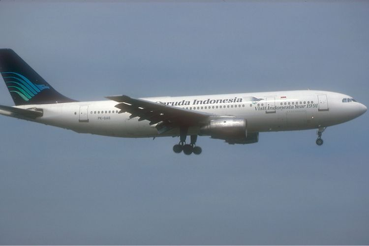 Garuda Indonesia Airbus A300 yang terlibat kecelakaan