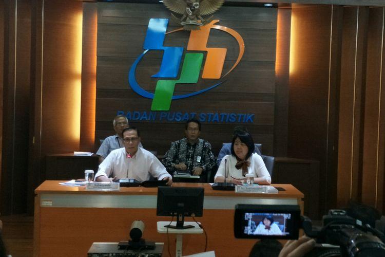 Kepala BPS Suhariyanto di kantor BPS, Jakarta, Rabu (6/2/2019)