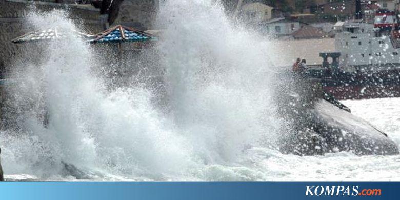 BMKG Awas Gelombang 5 Meter Di Perairan Jabar 4 Meter Di
