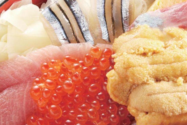 Restoran Dontaku di Tokyo ini menjual rice bowl sebagai menu utamanya. Menu rekomendasi dari restoran ini adalah gokai-don, yaitu rice bowl dengan topping ikan tuna, ikan kibinago (mirip ikan teri dengan ukuran lebih besar), ikan greater amberjack, telur ikan salmon dan uni (daging landak laut).