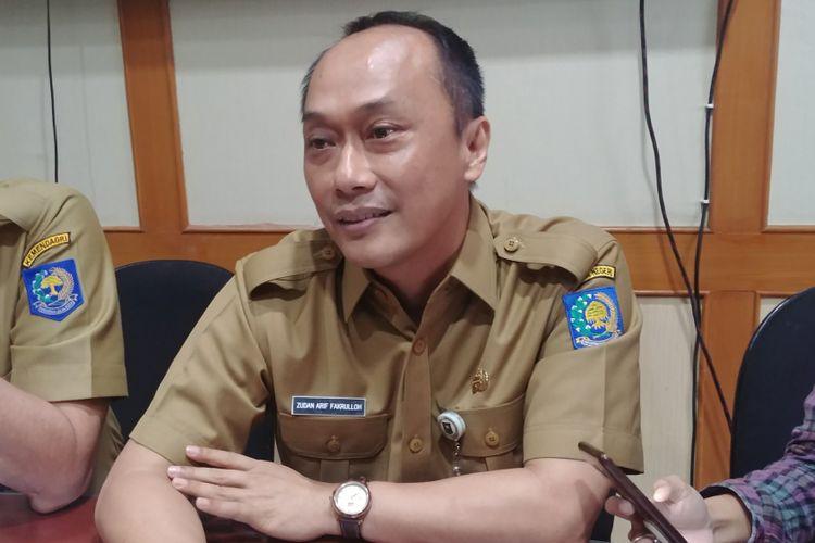 Dirjen Kependudukan dan Catatan Sipil Zudan Arif Fakrulloh dalam jumpa pers di Kantor Kemendagri, Jakarta, Senin (9/4/2018).