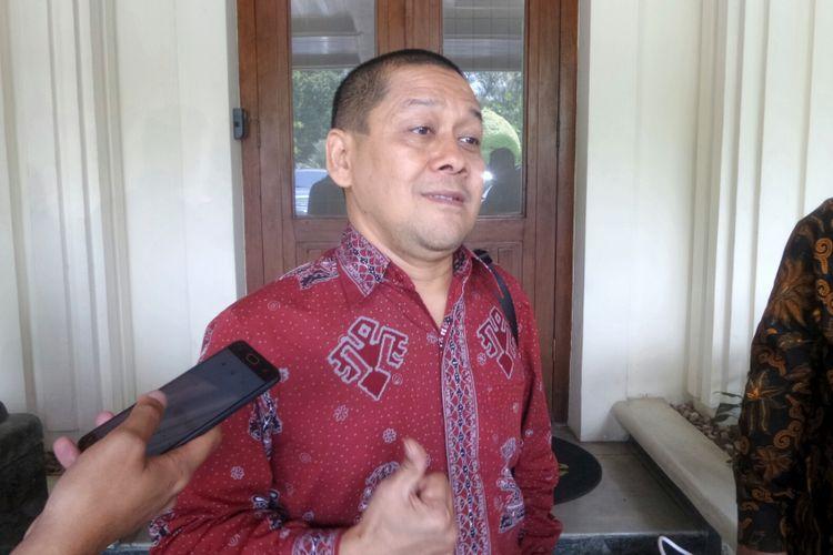 Direktur Komersial dan Operasional Perum Produksi Film Negara (PFN) Elprisdat Zen di Kemenko Polhukam, Jakarta Pusat, Kamis (14/9/2017).