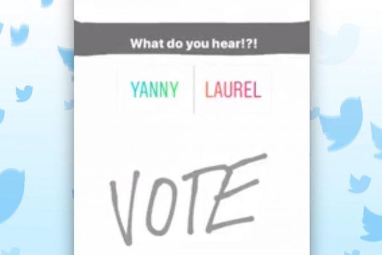 tangkapan layar Yanny vs Laurel