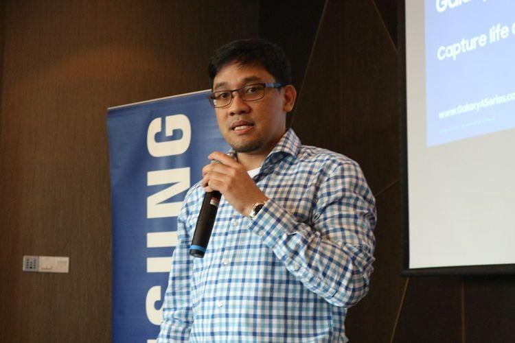 Denny Gallant, Head of IT&Mobile Product Marketing Samsung Electronics Indonesia, dalam rangkaian peluncuran Galaxy A7 dan A9 di Kuala Lumpur, Malaysia.