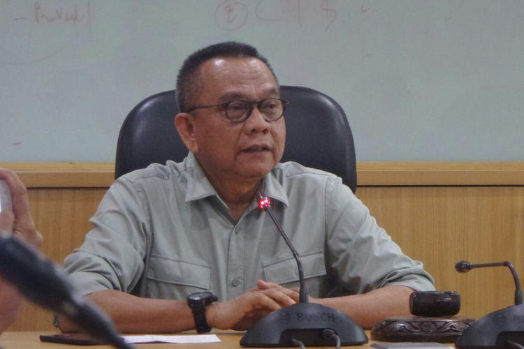 Wakil Ketua DPRD DKI Jakarta Mohamad Taufik di Gedung DPRD DKI Jakarta, Jalan Kebon Sirih, Kamis (19/10/2017).