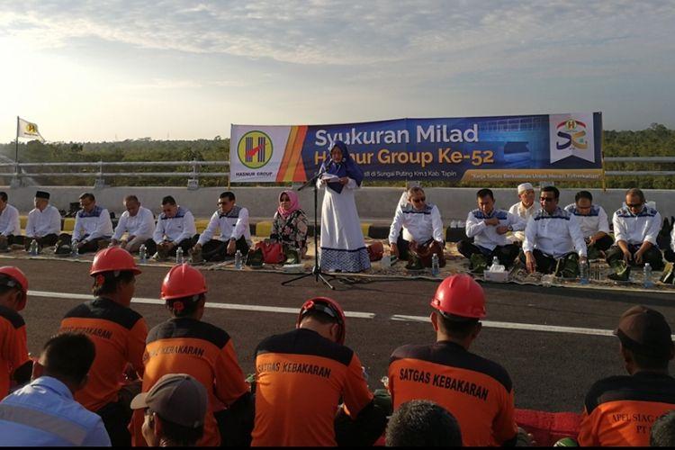 Presdir Hasnur Group Jayanti Sari, Senin (27/8/2018)