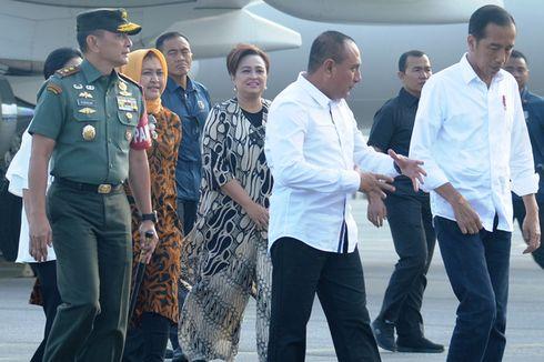 Disambut Edy Rahmayadi, Presiden Jokowi Mendarat di Silangit...