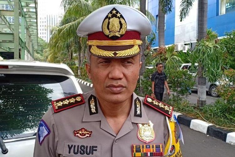 Dirlantas Polda Metro Jaya, Kombes Pol Yusuf mengungkap hasil uji coba tilang elektronik di Polda Metro Jaya, Jakarta Selatan pada Kamis (1/11/2018).