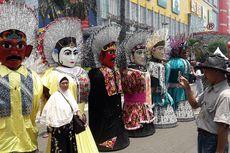 Ondel-ondel dan Barongsai Ramaikan Karnaval Cap Go Meh Glodok