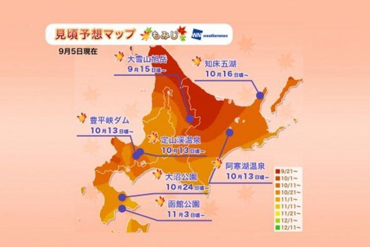 Jadwal Puncak Musim Gugur di Jepang Tahun 2018