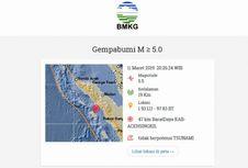 Gempa Hari Ini: M 5,5 di Aceh Singkil dan Nias, Apakah Berpotensi Tsunami?