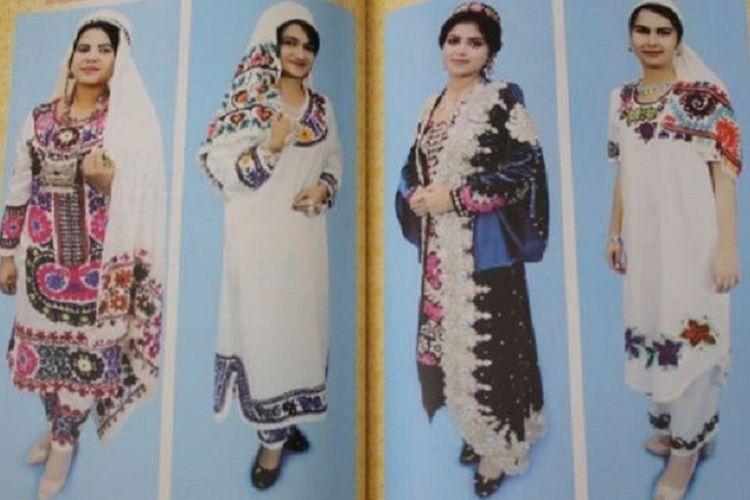 Inilah sebagian dari pakaian untuk perempuan yang dianjurkan Pemerintah Tajikistan.