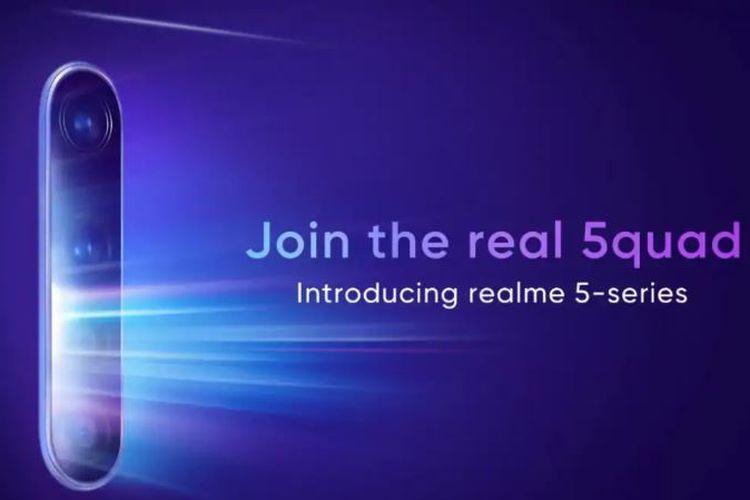 Ilustrasi poster peluncuran Realme 5