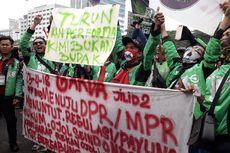 Ada Demo, Penumpang Susah Dapat Ojek