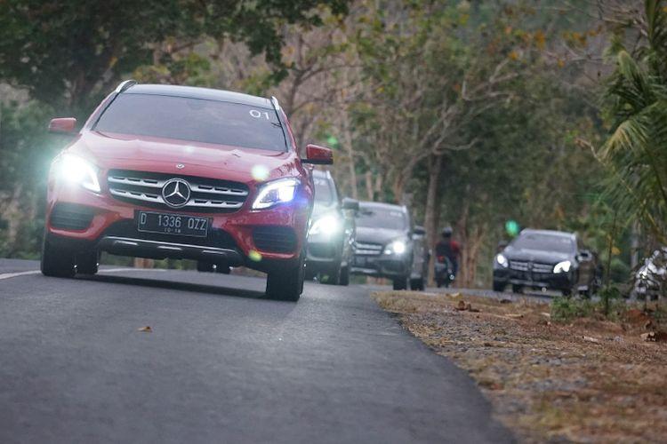 Tes drive Mercedes-Benz GLA 200 AMG Line Yogyakarta