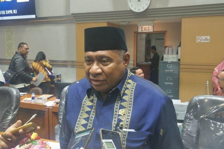 Ketua Komisi VIII DPR Ali Taher di ruang rapat Komisi VIII, Kompleks Parlemen, Senayan Jakarta, Senin (16/4/2018).