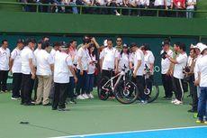 Resmikan Lapangan Tenis di GBK, Jokowi Bagi-bagi Sepeda