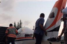 Pesawat yang Dipiloti Gubernur Aceh Mendarat Darurat, Sayap Patah