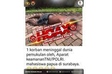 [HOAKS] Mahasiswa Papua Meninggal di Surabaya karena Dipukul Aparat TNI/Polri