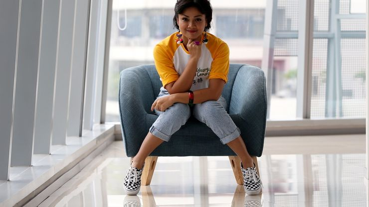 Nirina Zubir Perankan Tokoh Emak di Film Keluarga Cemara
