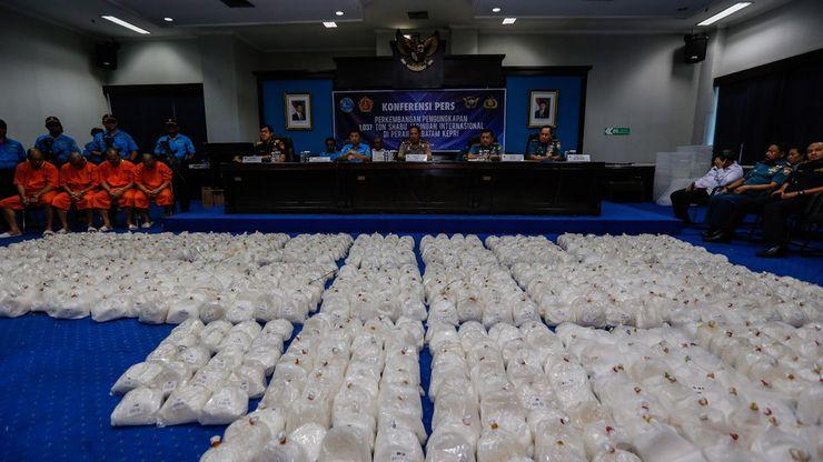 BNN Sita 1 Ton Lebih Sabu dari Jaringan Narkoba Internasional
