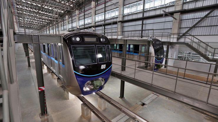 Melihat Proses Persiapan Kereta MRT di Depo Lebak Bulus