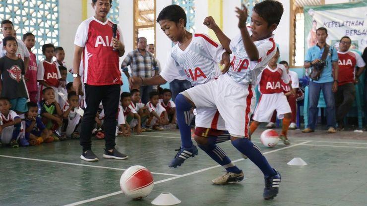 AIA Sepak Bola untuk Negeri Gelar Coaching Clinic di Labuan Bajo