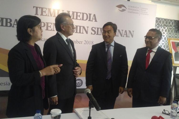 Dewan Komisioner Lembaga Penjamin Simpanan (LPS) dalam konferensi pers di kantor LP,S, Jakarta, Rabu (12/9/2018).