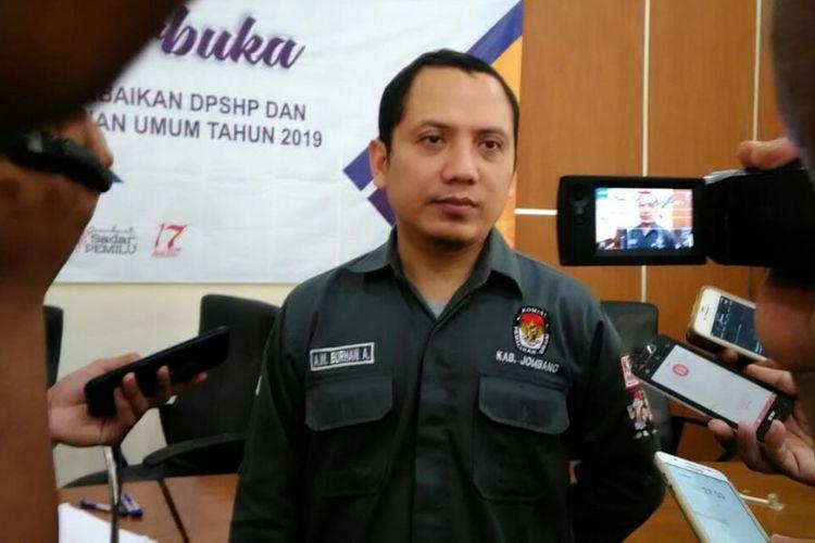 Anggota Komisi Pemilihan Umum (KPU) Jombang Abdul Wadud Burhan, Selasa (21/8/2018)