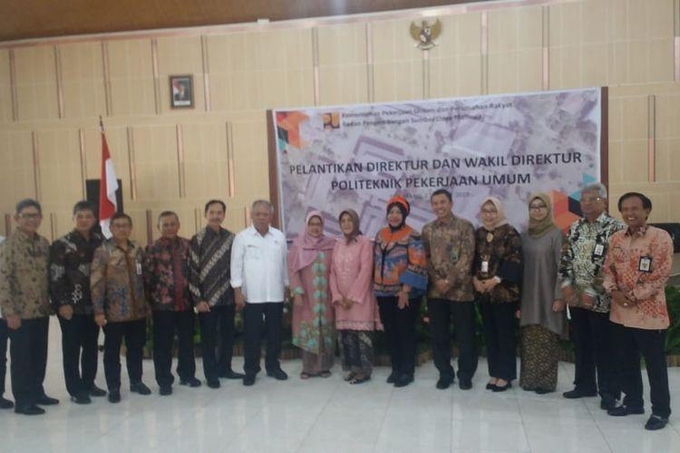 Pelantikan Direktur dan Wakil Direktur Politeknik Pekerjaan Umum (PU) di Semarang, Rabu (27/3/2019).