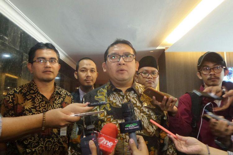 Wakil Ketua DPR RI Fadli Zon di Kompleks Parlemen, Senayan, Jakarta, Kamis (2/11/2017).