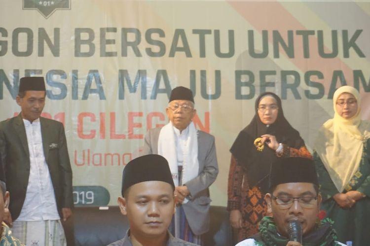 Maruf Main saat menghadiri deklarasi dukungan dari ulama dan tokoh silat Cilegon, Kamis (14/3/2019)