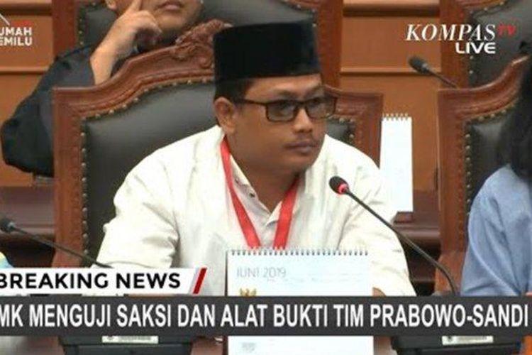 Rahmadsyah Sitompul, saksi Prabowo- Sandi di sidang Mahkamah Konstitusi.