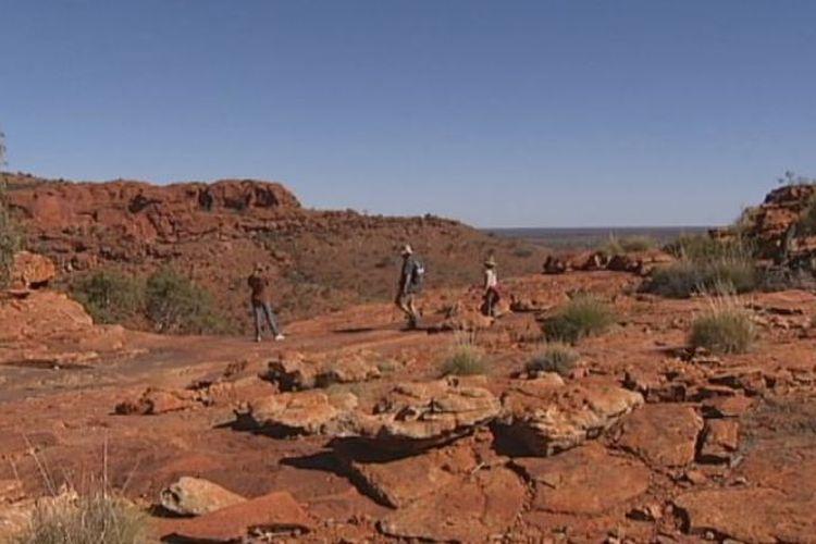 Suasana di Kings Canyon di Wilayah Utara, Australia. (ABC News)