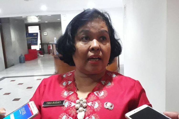 Kepala Dinas Pariwisata dan Kebudayaan DKI Jakarta Tinia Budiati di Balai Kota DKI Jakarta, Jalan Medan Merdeka Selatan, Jumat (9/2/2018).