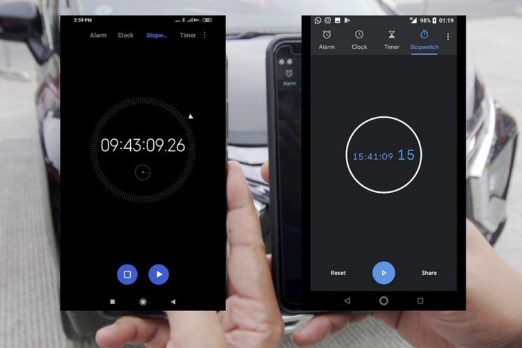 Hasil penghitungan waktu tempuh Komparasi Trans Jawa, menggunakan stopwatch, terlihat perbedaan cukup kontras, antara jalur tol dan pantura.