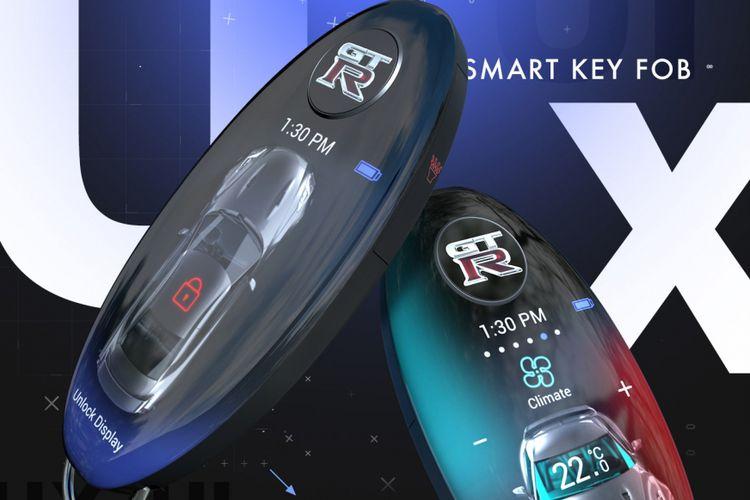 Desain smart key untuk NIssan GT-R karya desainer Danny Burnside