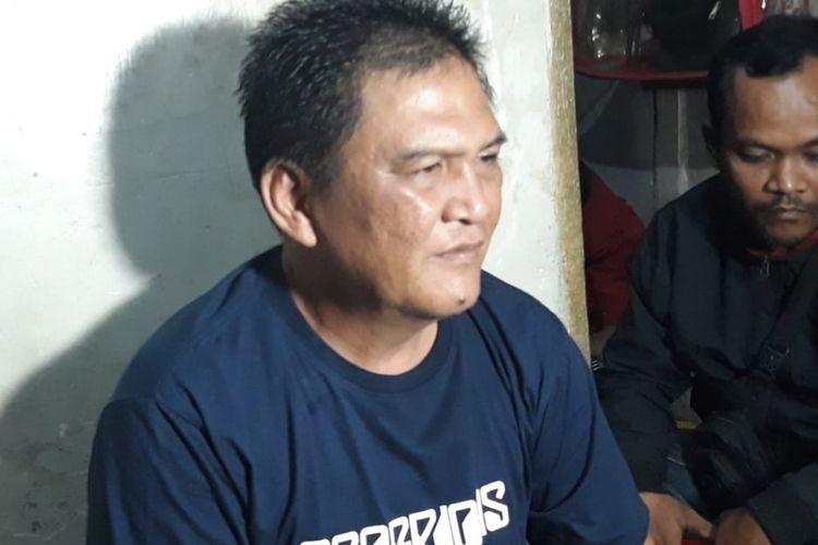 Siloam, ayah dari Haringga Sirla (23). Haringga merupakan suporter Persija yang tewas dikeroyok di halaman Stadion Gelora Bandung Lautan Api, Bandung, Jawa Barat, Minggu (25/9/2018)