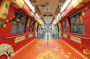 Sambut Imlek, MRT Singapura Bersolek